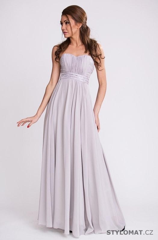 c435d6331b4 Dámské dlouhé antické šaty šedé - Eva Lola - Dlouhé společenské šaty