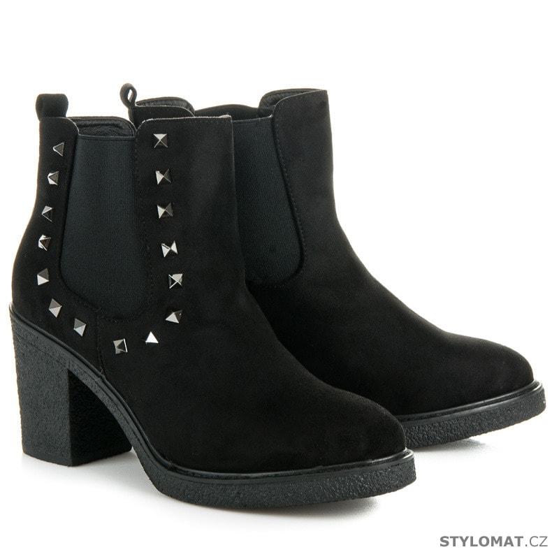 Dámské podzimní boty se cvoky - SEASTAR - Kotníčkové boty f4d3889d4b