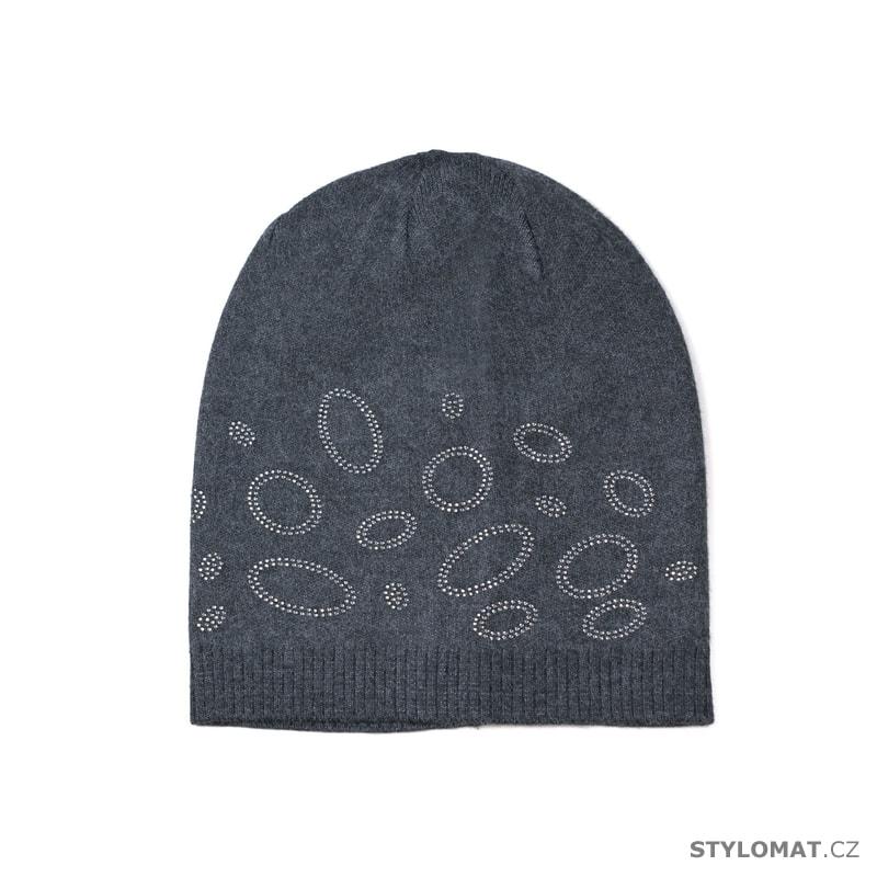 Tmavě šedá čepice zdobená kroužky - Art of Polo - Tenké (podzimní jarní) f7934d957a