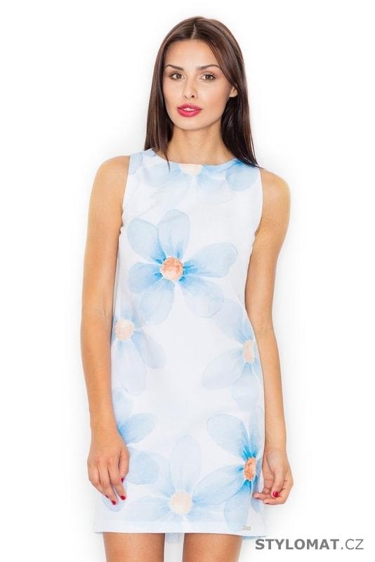 18309ac4633 Dámské letní šaty světle modré - Figl - Krátké letní šaty