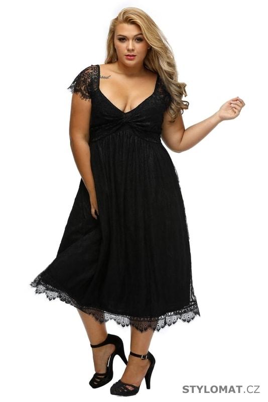 Dámské šaty XXL - Damson - Krátké společenské šaty 82d4682c99