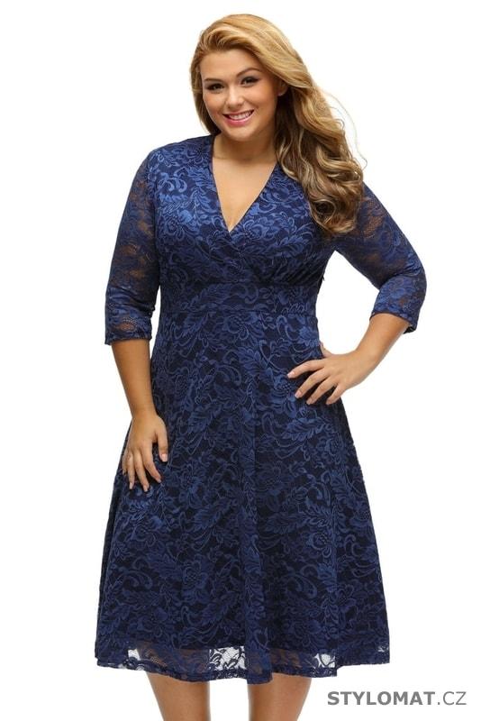 Dámské šaty pro plnoštíhlé tmavě modré - Damson - Šaty 546c837ec9