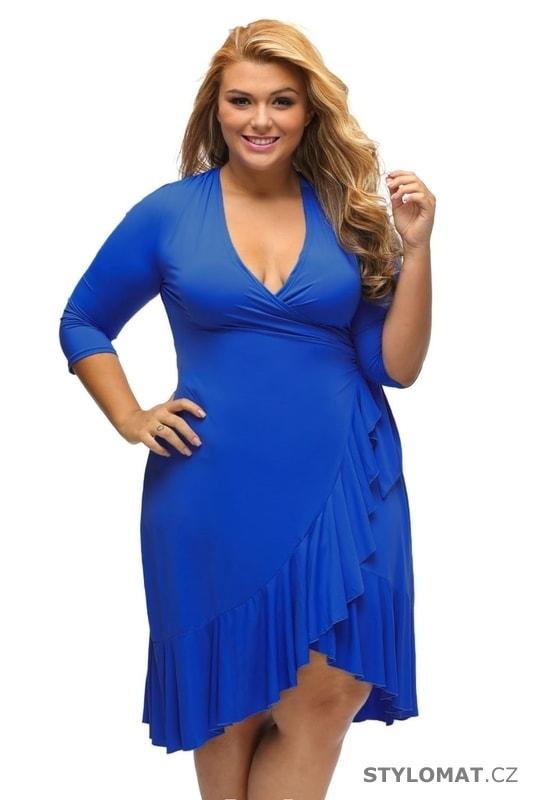 Dámské zavinovací šaty modré - Damson - Krátké společenské šaty a57ec0af2c