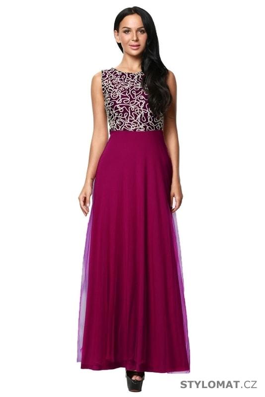 Dlouhé plesové šaty vínové - Damson - Dlouhé společenské šaty 287996cea2