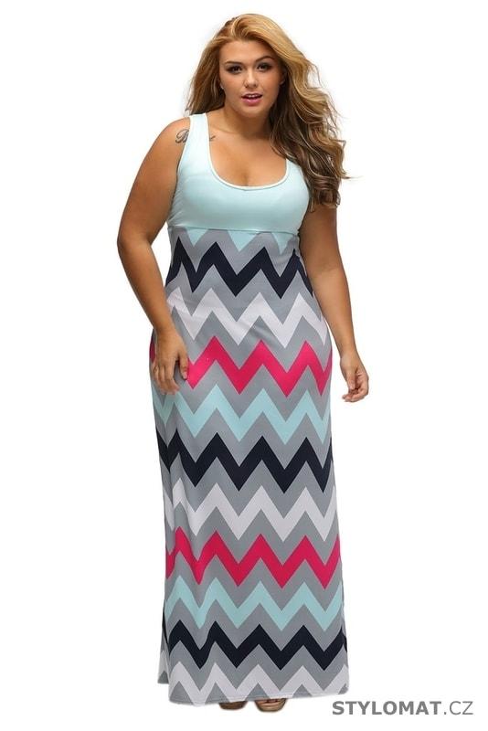 Letní šaty pro plnoštíhlé - Damson - Dlouhé letní šaty 496ffff40e