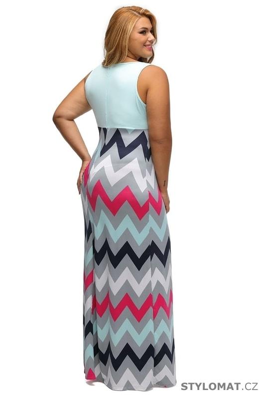 Letní šaty pro plnoštíhlé - Damson - Dlouhé letní šaty 626868cde8c