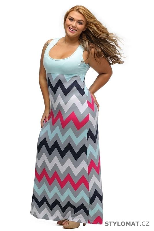 169c71e3cbb Letní šaty pro plnoštíhlé - Damson - Dlouhé letní šaty