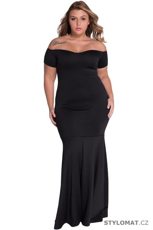 Černé plesové šaty pro plnoštíhlé - Damson - Dlouhé společenské šaty 8322e3894b