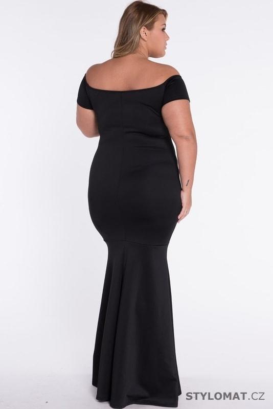 Černé plesové šaty pro plnoštíhlé - Damson - Dlouhé společenské šaty a49740fd2e