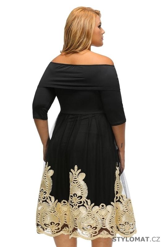 Šaramantní společenské šaty pro plnoštíhlé - Damson - Krátké společenské  šaty 06622dd72b
