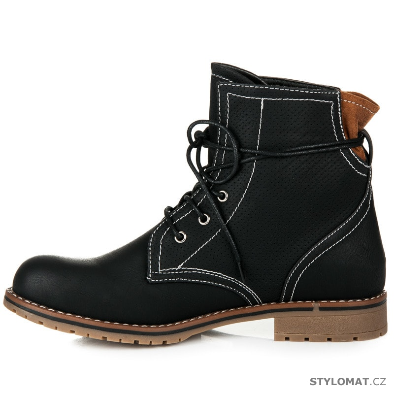 Černé kotníkové boty na nízkém podpatku · Zvětšit. - 33%. Previous  Next 39079e227f