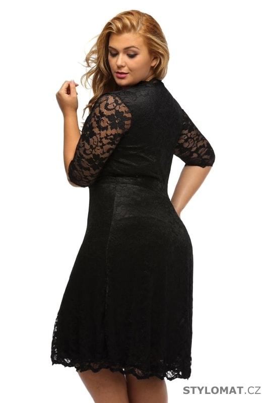 Večerní šaty pro plnoštíhlé černé - Damson - Šaty d9174c45e2