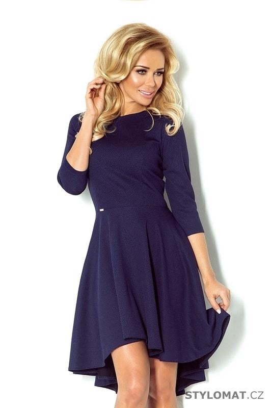 cc4e5fdd0106 Asymetrické dámské šaty modré - Numoco - Party a koktejlové šaty