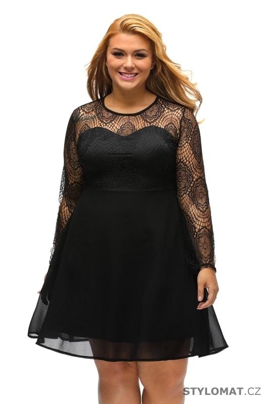 Šifonové večerní šaty pro plnoštíhlé - Damson - Šaty 728c03ae76