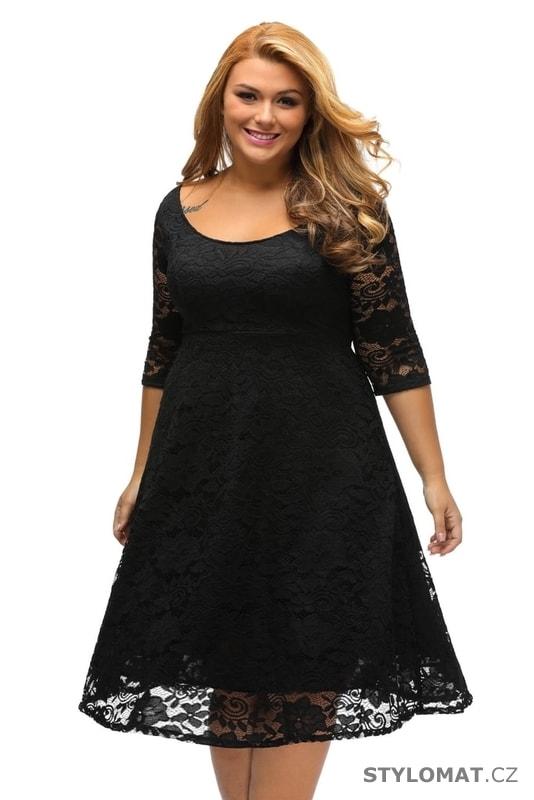 ... Krajkové večerní šaty pro plnoštíhlé černé. Previous  Next 379494690a