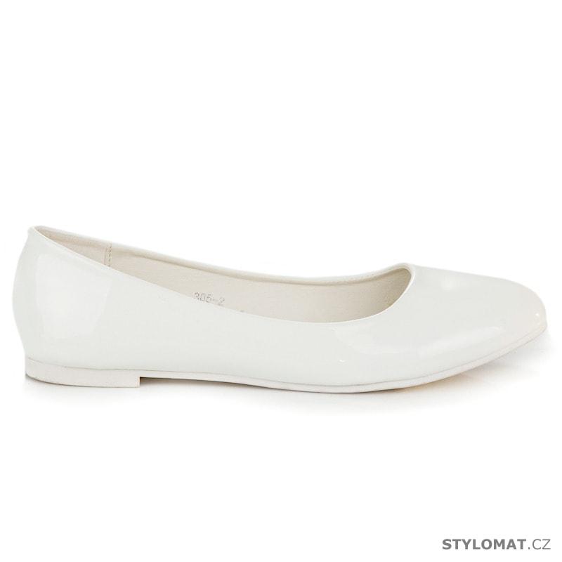 Bílé lesklé baleríny - Groto gogo - Baleríny 3b22f29d94