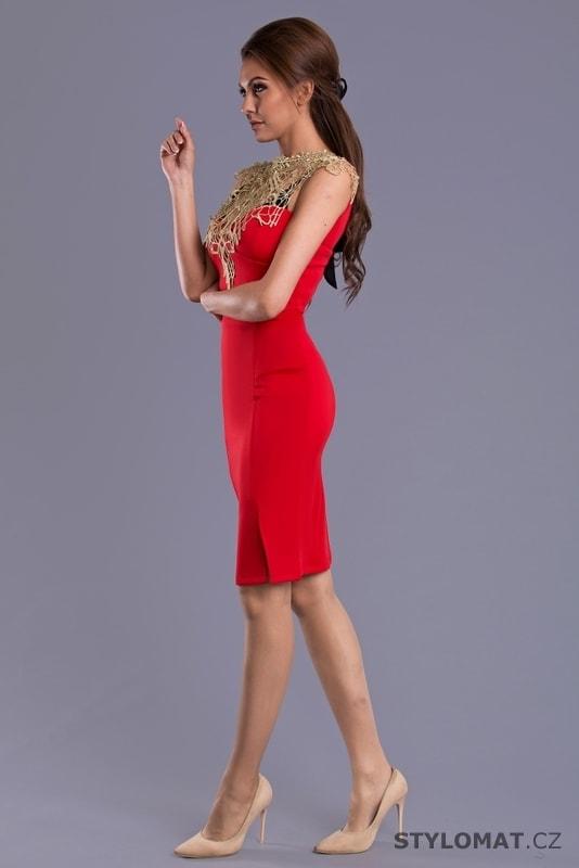 Sexy pouzdrové šaty červené - Emamoda - Krátké společenské šaty 32d28dbaf8