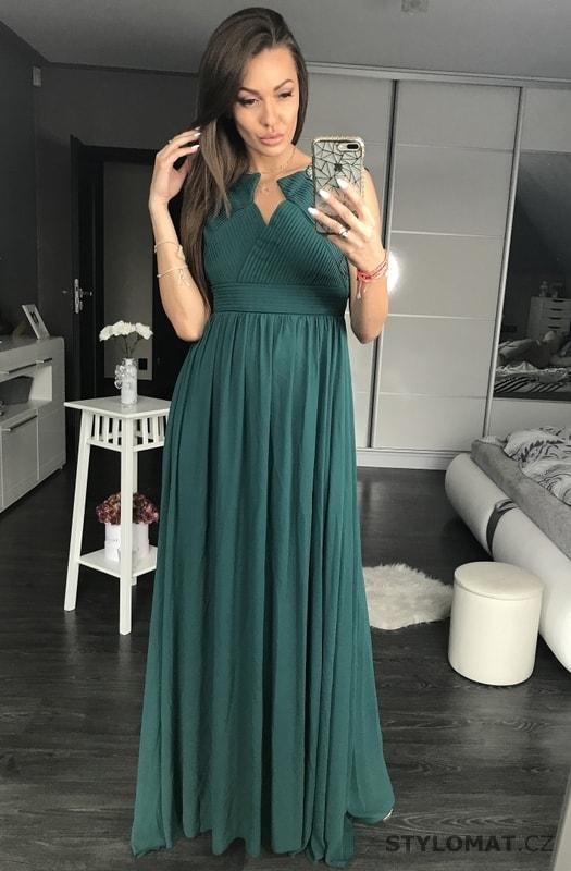 f74fe972eb7 Dámské dlouhé originální šaty petrolejové - Pink BOOm - Dlouhé společenské  šaty