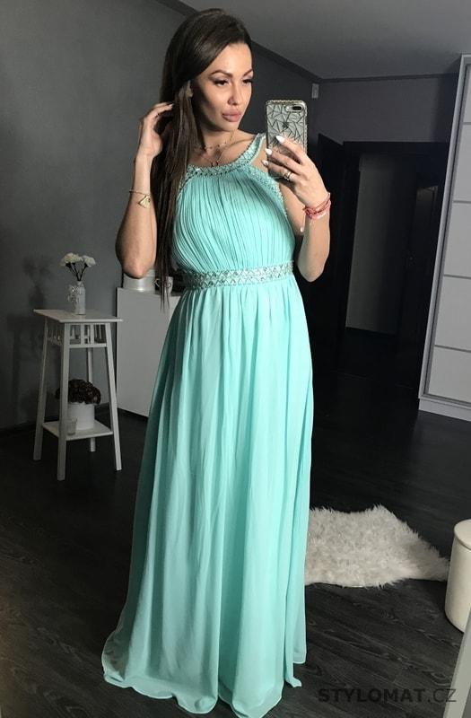 4d4e5a604cf Dlouhé plesové šaty světle modré - Eva Lola - Dlouhé společenské šaty