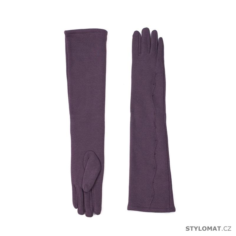 62ee90ddf1f Dlouhé elegantní dámské rukavice fialové - Art of Polo - Dámské rukavice