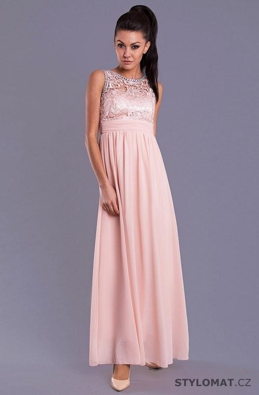 Elegantní dlouhé plesové šaty světle růžové - Eva Lola - Dlouhé ... b771a44badd