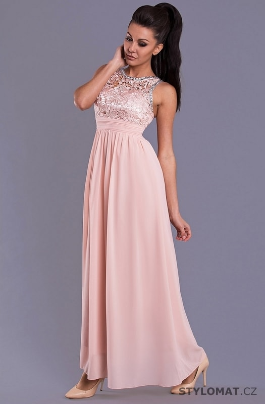 Elegantní dlouhé plesové šaty světle růžové. Zvětšit. - 5%. Previous  Next 42b9f9aa9a