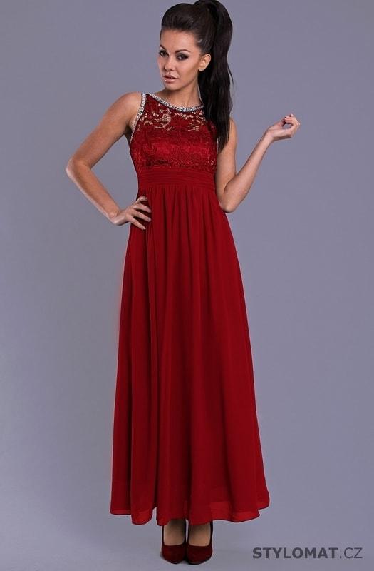 Elegantní dlouhé plesové šaty červené - Eva Lola - Dlouhé ... d4a8e9b495