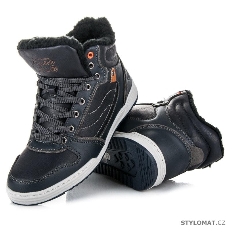 39283925f3a ... Pánské kotníkové a farmářky    Sportovní zimní obuv modrá. Previous   Next