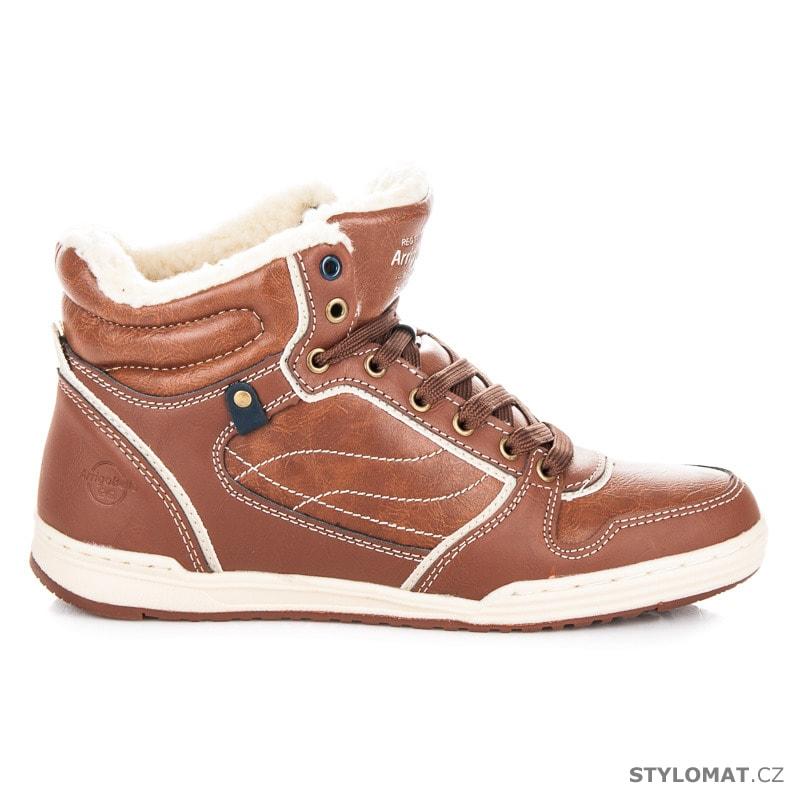 1d859c39f7c Sportovní zimní obuv hnědá - Arrigo Bello - Pánské kotníkové a farmářky
