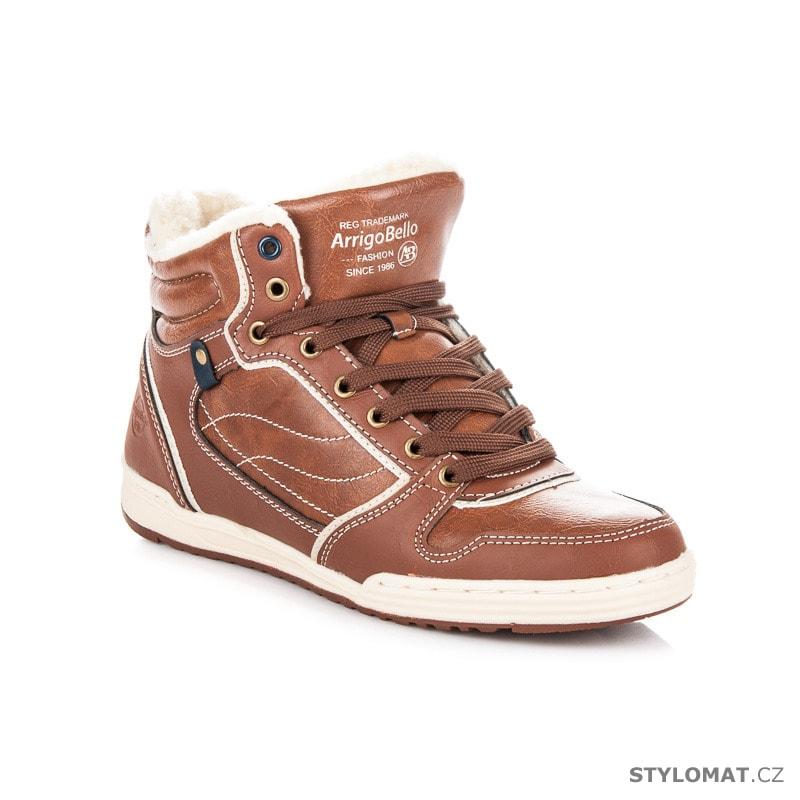 d44cff3b611 ... Pánské kotníkové a farmářky    Sportovní zimní obuv hnědá. Previous   Next