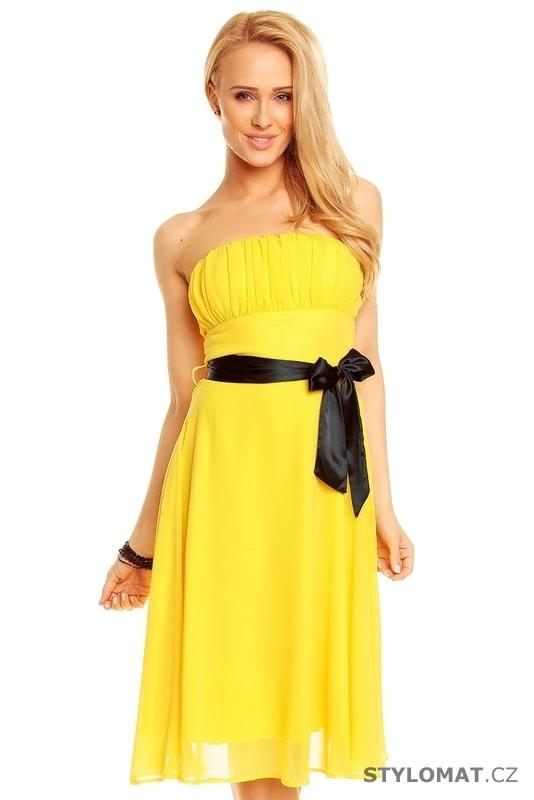 Žluté dámské elegantní šaty - Mayaadi - Krátké společenské šaty c884fc4f6d