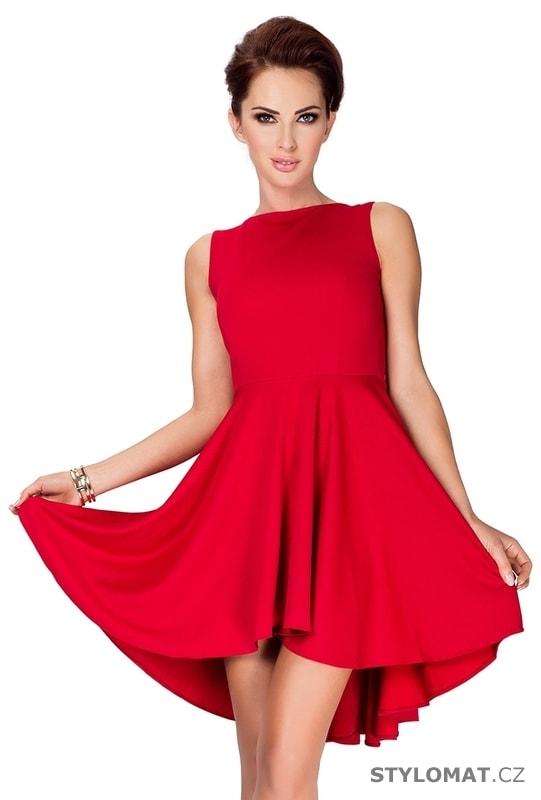 Exkluzivní červené šaty s nabíranou sukní - Numoco - Krátké letní šaty 30a7a2906d