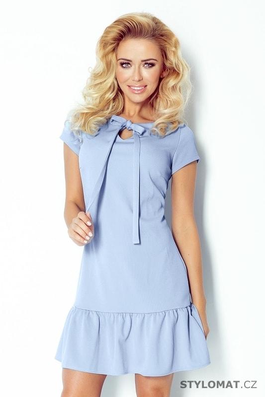 2a233997d86 Modré šaty s volánem - Numoco - Krátké letní šaty