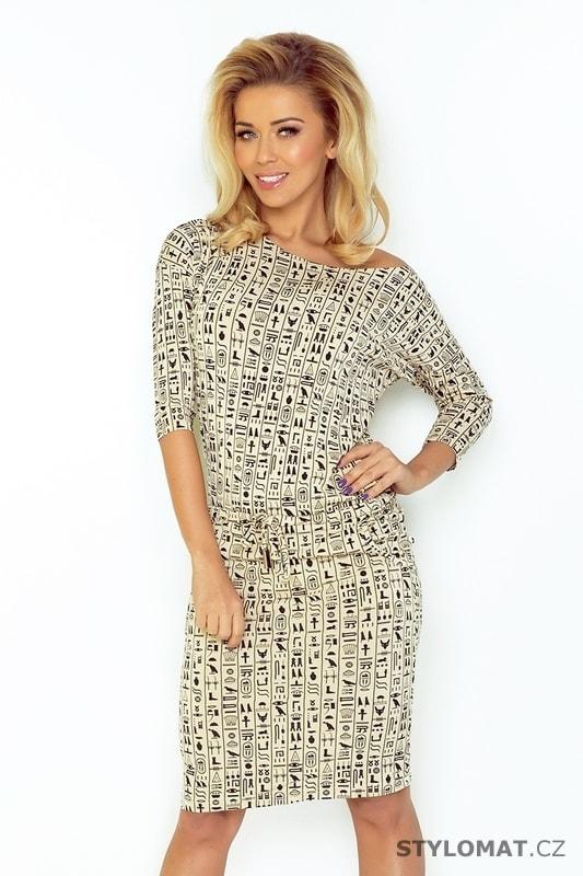 Béžové sportovní šaty - Egypt - Numoco - Jarní šaty e21b6f5521