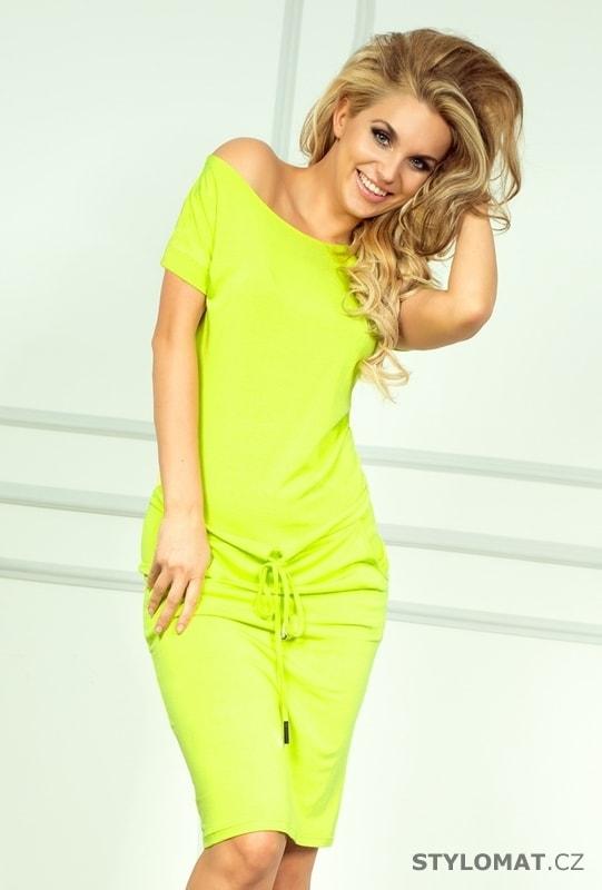 Neonově žluté sportovní šaty - Numoco - Jarní šaty e4f6ae6676