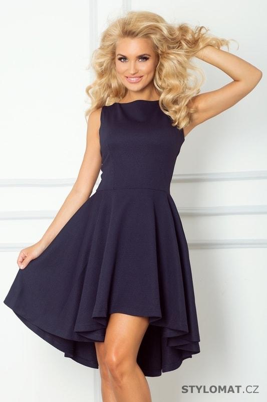 b28a881f099 Tmavě modré šaty bez rukávů s nabíranou sukní- Lacosta - Numoco - Krátké  společenské šaty