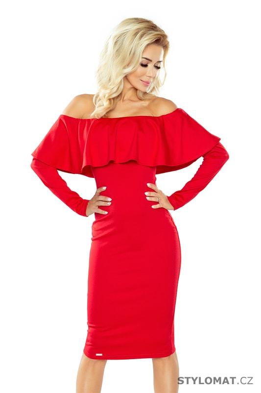 53e7150cadd Šaty s dlouhým rukávem červené - Numoco - Krátké společenské šaty