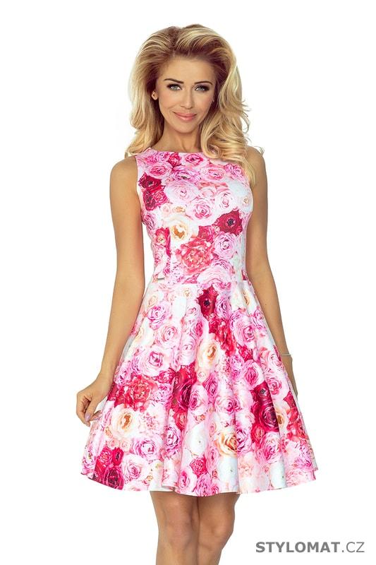 Romantické šaty s růžemi - Numoco - Krátké letní šaty 75c556f1aa