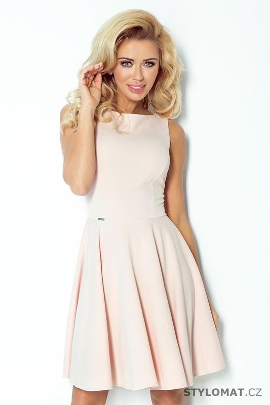8b2875015a9 Jemné růžové společenské šaty - Numoco - Elegantní a business šaty