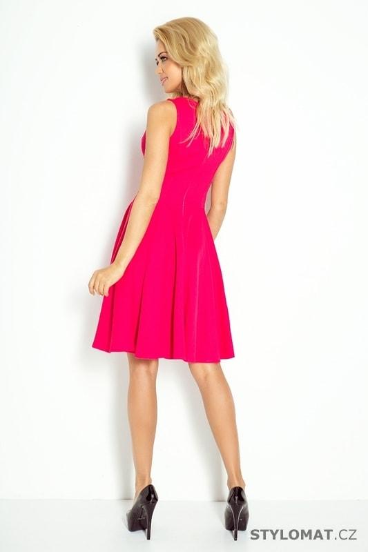 Malinové šaty na ramínka s výstřihem - Numoco - Krátké letní šaty d8ef1bad6a