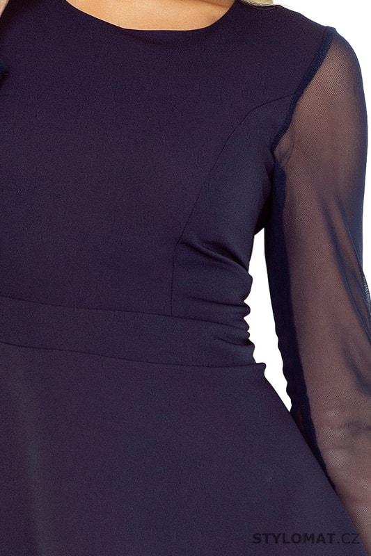 679d3b95e99 Krásné tmavě modré šaty s průsvitnými rukávy. Zvětšit. - 4%. Previous  Next