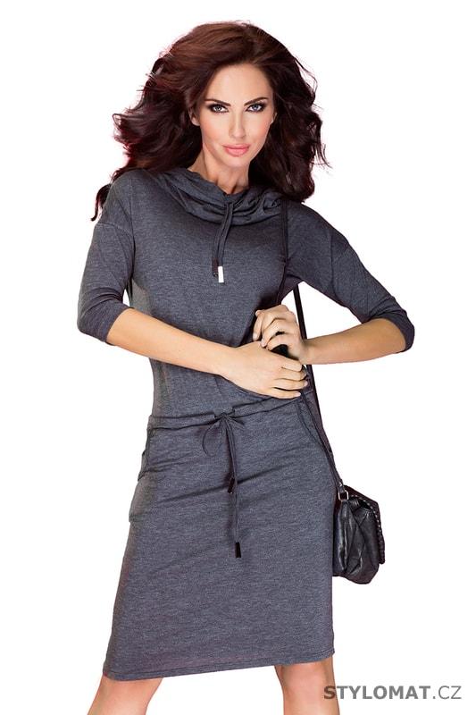 0ac3b67263e Sportovní dámské šaty s rolákem šedé - Numoco - Jarní šaty