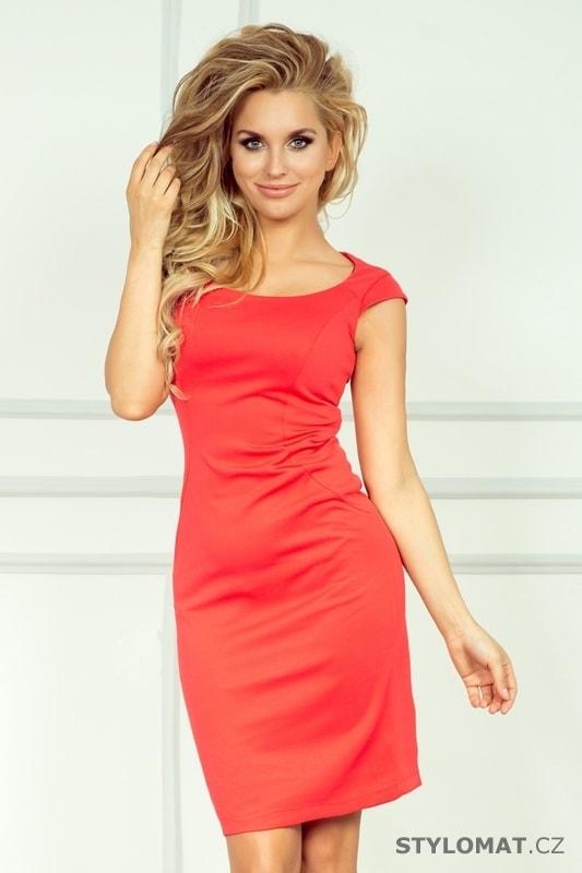 Korálové pouzdrové šaty - Numoco - Elegantní a business šaty 92ebe0bd2c