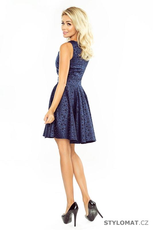 b6869d307da Kolové šaty s lodičkovým výstřihem tmavě modré. Zvětšit. - 8%. Previous   Next