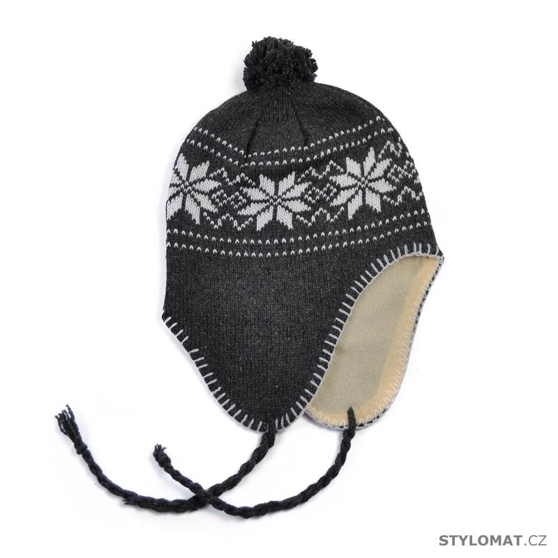 ... Zimní dámské ušanky    Peruánská čepice šedivá. Peruánská čepice šedivá 72854311e7
