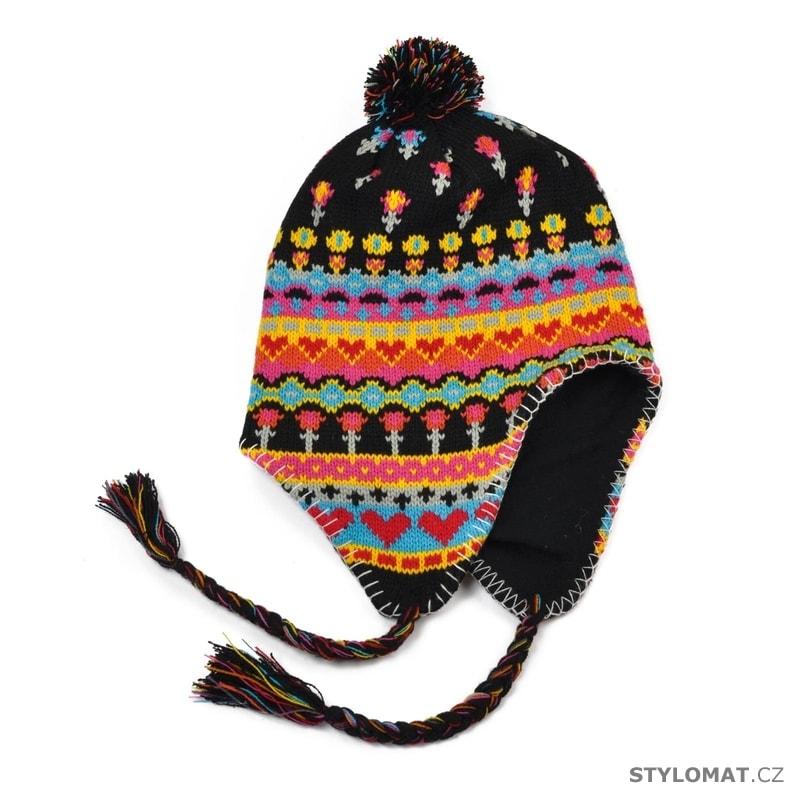 ... Zimní dámské ušanky    Peruánská čepice černá. Peruánská čepice černá c9e67b4f84