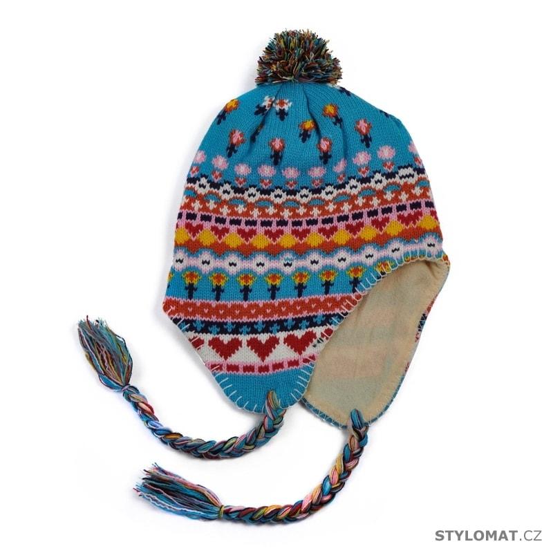 ... Zimní dámské ušanky    Peruánská čepice tyrkysová. Peruánská čepice  tyrkysová c45b695e97