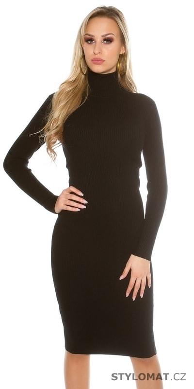 Dámské svetrové šaty s rolákem - Koucla - Úpletové šaty b959cc2ac29