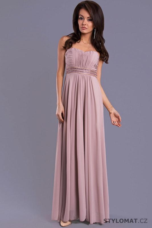 30c9344efac Dámské dlouhé antické šaty fialkové - Eva Lola - Dlouhé společenské šaty