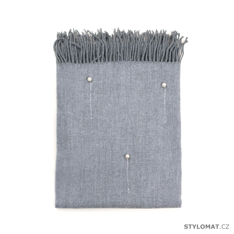 Šál s perličkami šedý - Art of Polo - Dámské zimní šály eb3ce6b1c9
